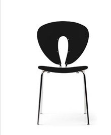 GLOBUS CHAIR IN PLASTIC WITH CHROME FRAME, SET OF 4 SAVE 20% + FREE SHIPPING