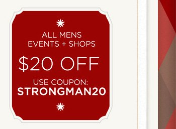All Mens Events + Shops