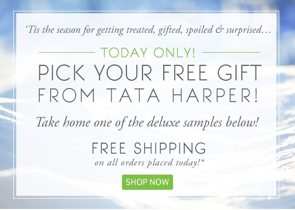 Today Only! 3 Gift Options + Free Shipping!