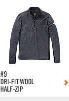 #9 DRI-FIT WOOLHALF-ZIP