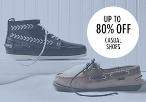 Up to 80% Off: Casual Shoes
