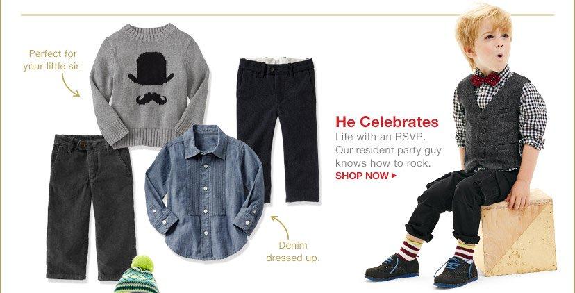 He Celebrates | SHOP NOW