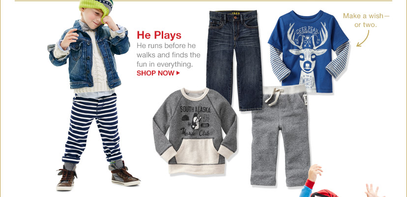 He Plays | SHOP NOW