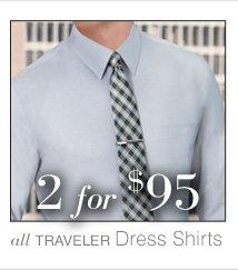 2 for $95 USD - Traveler Dress Shirts