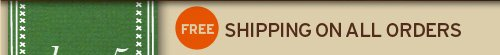 FREE shipping on orders of 30 dollars DAY 1