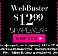 WebBuster: $12.99 Shapewear