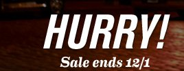 HURRY Sale ends 12/1
