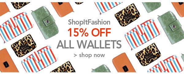 ShopItFashion 15% off All Wallets