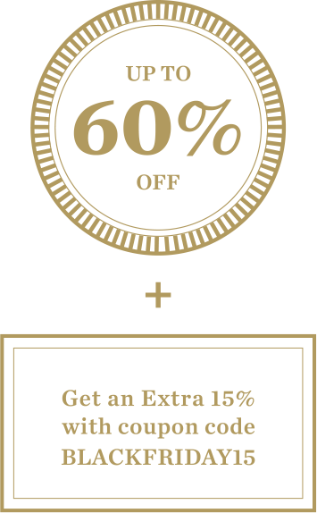 Up To 60% Off + Get an Extra 15% with coupon code BLACKFRIDAY15