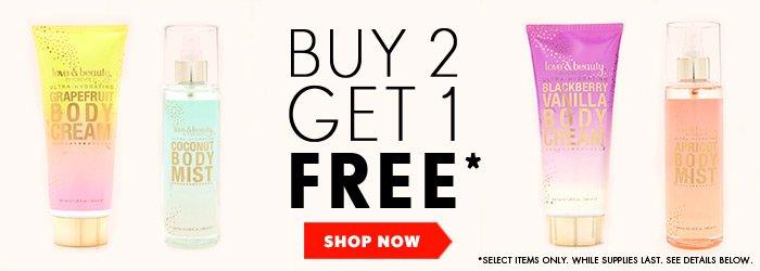 Buy 2 Get 1 Free Beauty