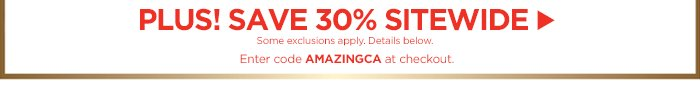 Plus! Save 30% Sitewide