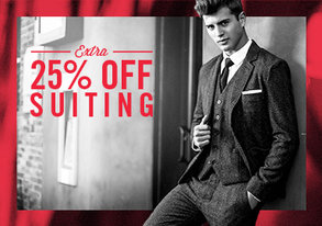 Shop Extra 25% Off: Suiting Blowout Sale