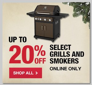 Up to 20% OFF Select Grills & Smokers