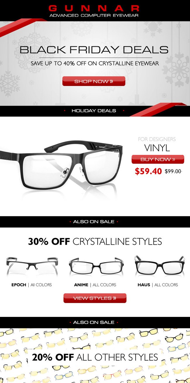 Eye Popping Deals on GUNNAR Crystalline Glasses - Up to 40% Off!