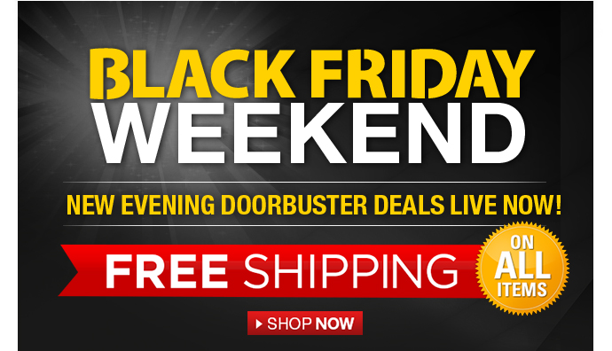 Black Friday Weekend new evening doorbuster deals live now!