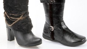Faux Fur Trimmed Boots & Booties