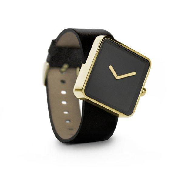 Slip Watch Gold-Tone Black