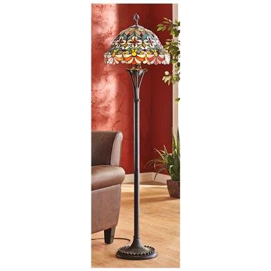 CastleCreek™ Scalloped Tiffany-style Floor Lamp