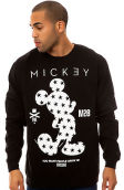 The Clean Mickey Crewneck in Black