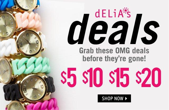 dELiA*s deals!
