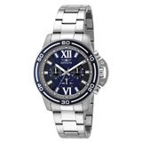 Invicta 15057 Mens Specialty Blue Dial Chronograph Stainless Steel Watch