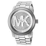 Michael Kors MK5544 Womens Runway Swarovski Silver Dial Stainless Steel Watch
