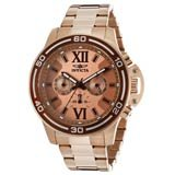 Invicta 15060 Mens Specialty Rose Gold Dial Chronograph Rose Gold Steel Watch