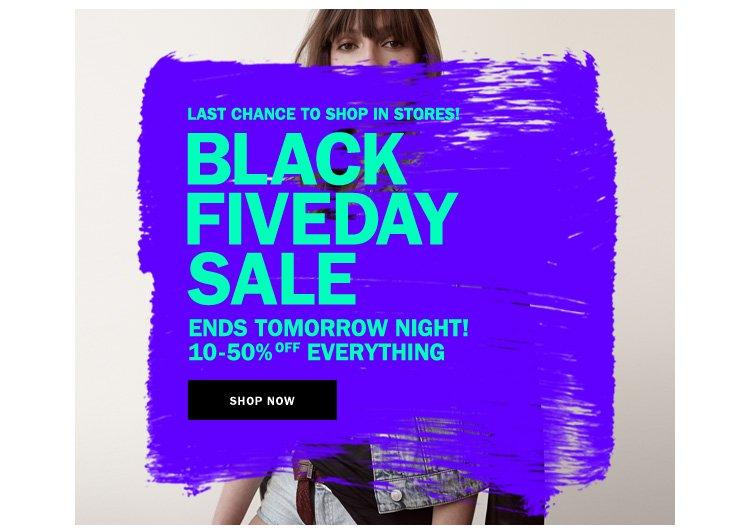 Black Fiveday Sale