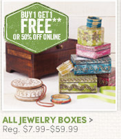All Jewelry Boxes - Buy One, Get One FREE!