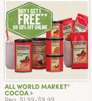 All World Market Cocoa - Buy One, Get One FREE!