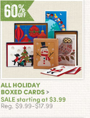 All Holiday Boxed Cards - 60% off