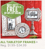 All Tabletop Frames - Buy One, Get One FREE!