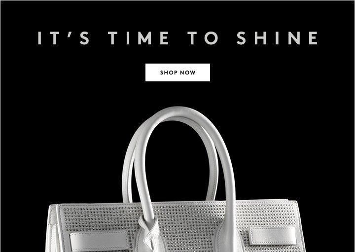 Winter white--with a Saint Laurent edge. Shop now.
