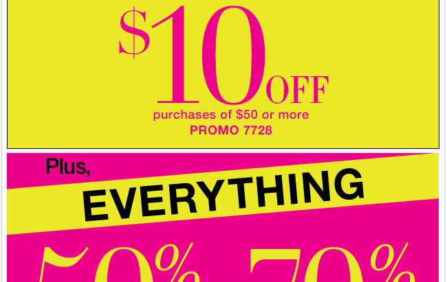 $10 Off $50 or More!