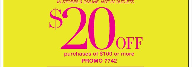 $20 Off $100 or More!