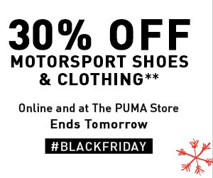30% OFF MOTORSPORT SHOES & CLOTHING**