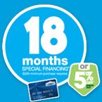 18 months special financing*