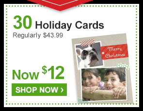 30 Holiday Cards Regularly $43.99 Now $12 - Shop Now ›