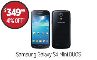 Samsung Galaxy S4 MIni DUOS Phone - $349.99 - 41% off‡