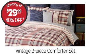 Vintage 3-Piece Comforter Set - Starting at $29.99 - 40% off‡