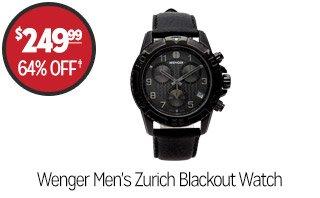 Wenger Men's Zurich Blackout Watch - $249.99 - 64% off‡