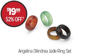 Angelina D'Andrea Jade Ring Set - $19.99 - 52% off‡