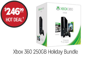 Xbox 360 250GB Holiday Bundle - $246.99 - HOT DEAL