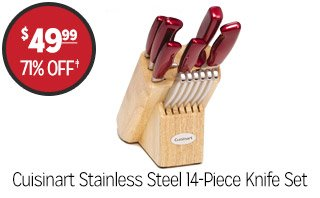 Cuisinart Stainless Steel 14-Piece Knife Set - $49.99 - 71% off‡