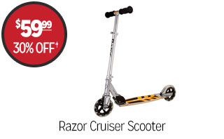 Razor Cruiser Scooter - $59.99 - 30% off‡