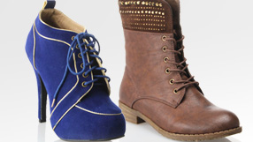 Lace Up Boots & Booties