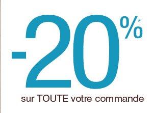 -20%* sur toute votre commande