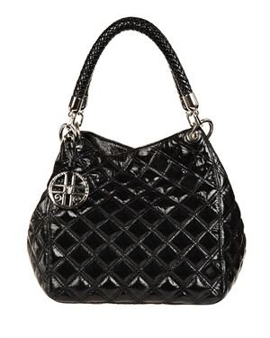 Silvio Tossi Quilted Leather Hobo Made in Europe
