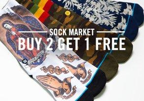 Shop Sock Market: Buy 2 Get 1 Free