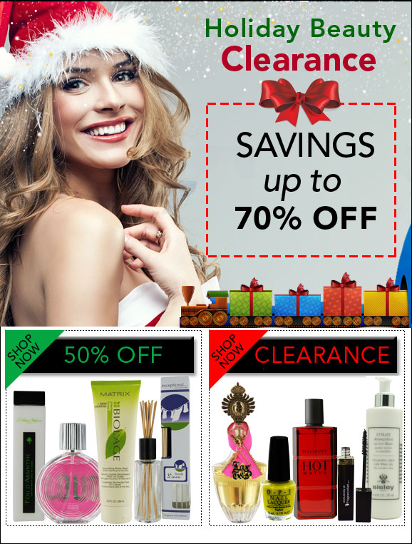 Clearance - Holiday Beauty - Savings up to 70% OFF